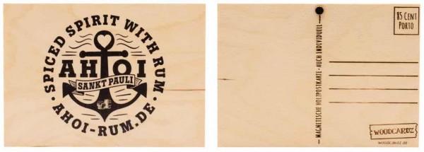 Holzpostkarte AHOI Sankt Pauli – ANKER
