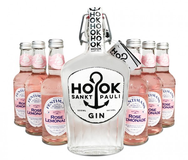 HOOK Gin + 6x Fentiman's Rose Lemonade