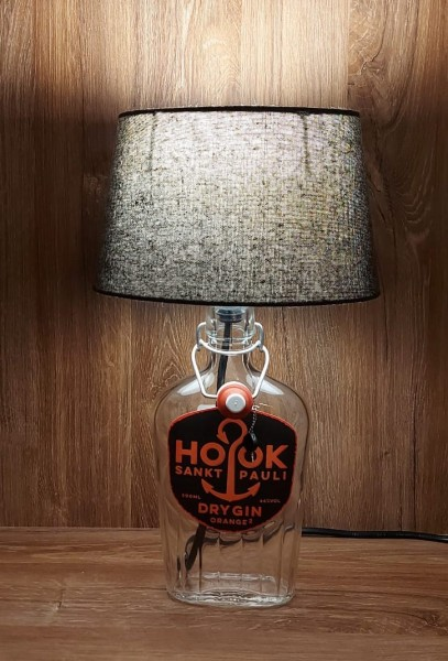 Lampe mit Schirm / HOOK Gin Orange / Upcycling