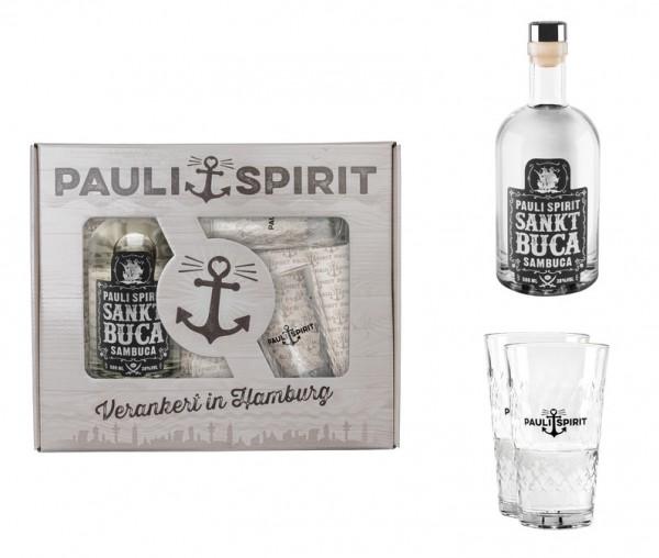 Geschenkset Sankt Buca mit 2 Longdrink-Gläsern [Handel]