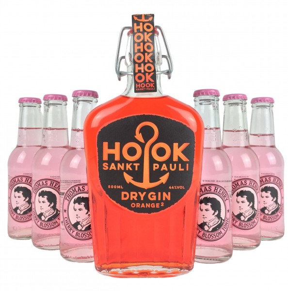 HOOK Gin Orange Buddel + 6x Thomas Henry Cherry Blossom Tonic