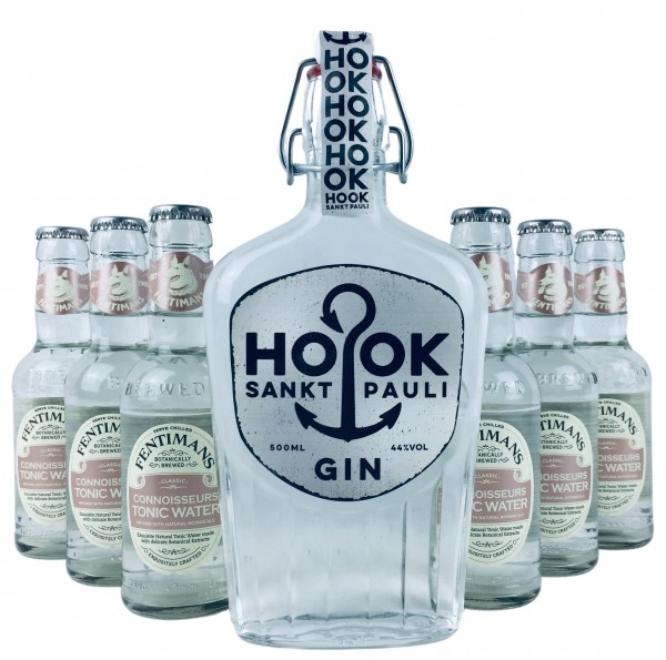 HOOK Gin + 6x Fentimans Connoisseurs Tonic Water