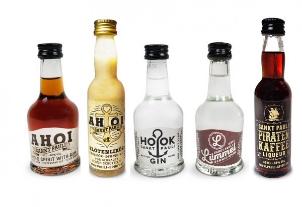 Lütten Probierset: 5 Lütten (AHOI Rum, Klötenlikör, HOOK Gin, Piratenkaffee & LÜMMEL Kümmel)