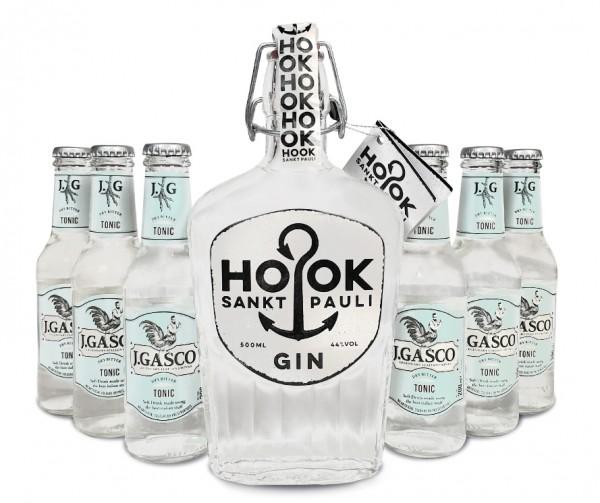 HOOK Gin Buddel + 6x J.Gasco Dry Bitter Tonic