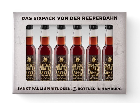Piratenkaffee Lütten Sixpack im Geschenkkarton 6x 4cl