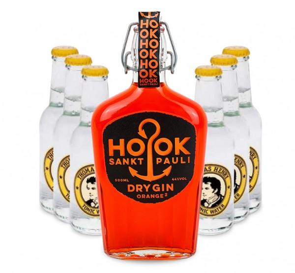 HOOK Gin Orange Buddel + 6x Thomas Henry Tonic Water