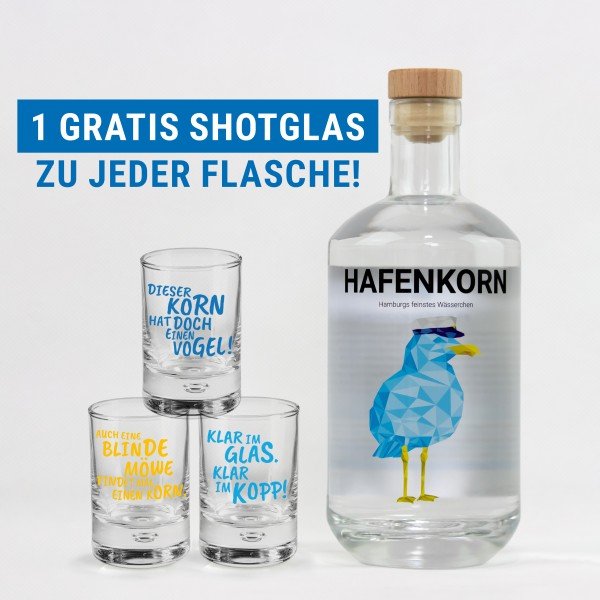 Frühlingsspecial Hafenkorn 700ml + 1 Shotglas gratis