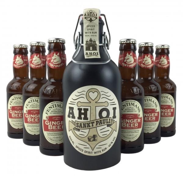 AHOI Rum + 6x Fentimans Ginger Beer