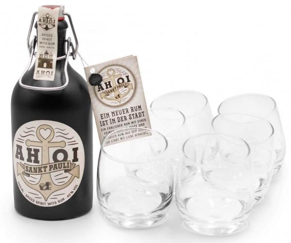 real.de: AHOI Rum Buddel + 6 Pauli Spirit Tumbler