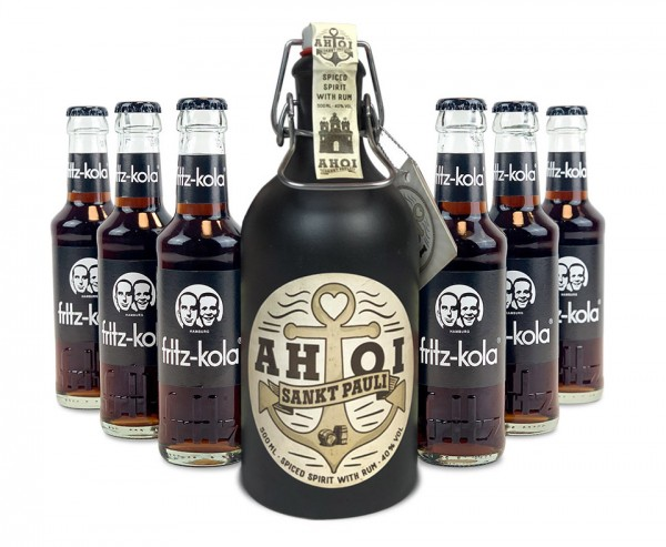 AHOI Rum Buddel + 6x fritz-kola