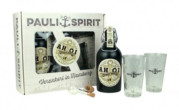 Geschenkset AHOI Rum mit 2 Gläsern & Ausgießer [Handel]