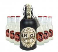 AHOI Rum Buddel + 6x Thomas Henry Spicy Ginger 200ml