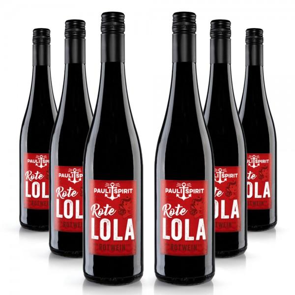 Rote Lola Rotwein feinherb KARTON (6x Flasche 750ml) [Handel]