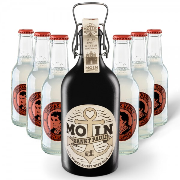 MOIN Rum Buddel + 6x Thomas Henry Spicy Ginger 200ml