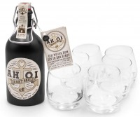 AHOI Rum Buddel + 6 AHOI Tumbler
