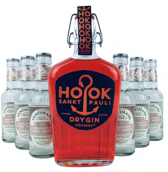 HOOK Gin Orange + 6x Fentimans Connoisseurs Tonic Water