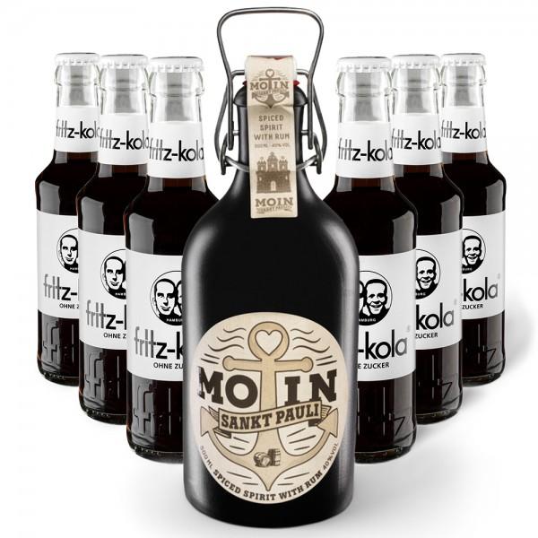 MOIN Rum Buddel + 6x fritz-kola zuckerfrei