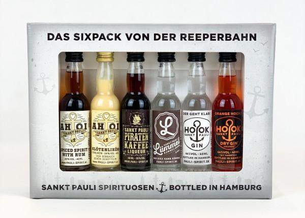 """Lütten Sixpack """"Pauli Spirit"""" im Geschenkkarton 6x 4cl"""