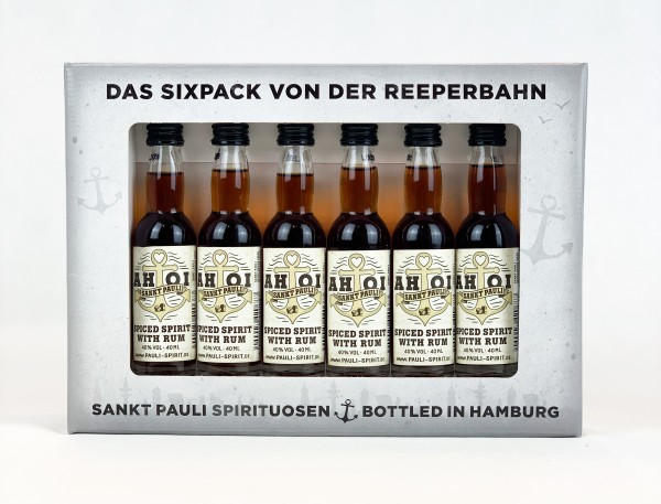 AHOI Rum Lütten Sixpack im Geschenkkarton 6x 4cl