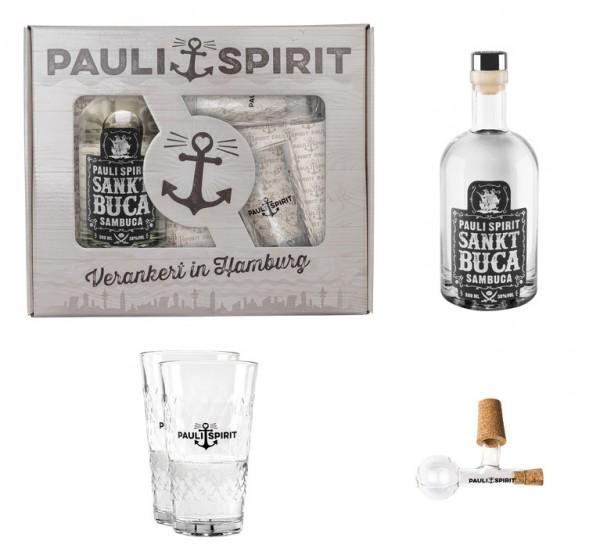 Geschenkset Sankt Buca mit 2 Longdrink Gläsern und Ausgießer [Handel]