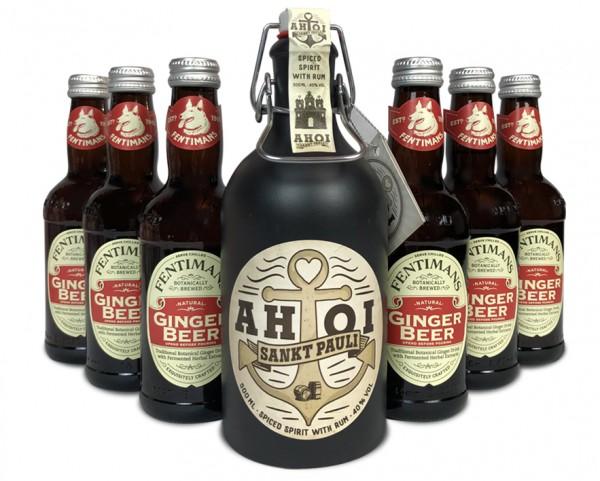 AHOI Rum Buddel + 6x Fentiman's Ginger Beer