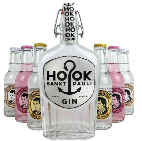 HOOK Gin Buddel + Thomas Henry Tonic Mix