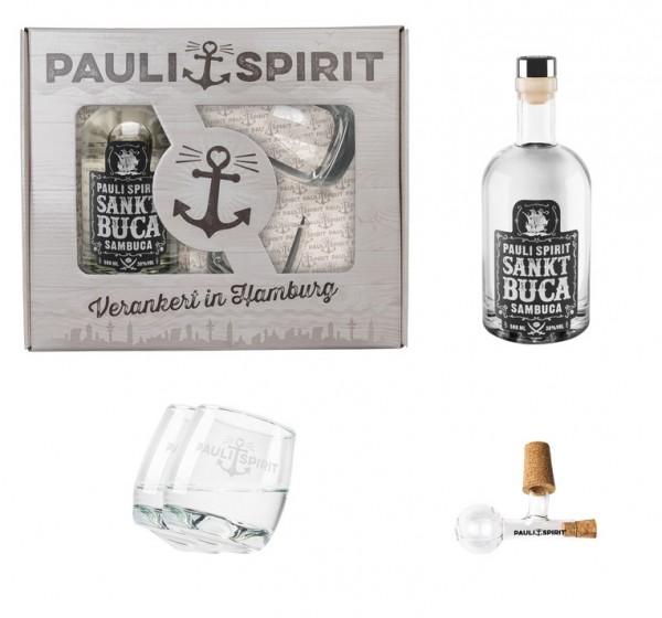 Geschenkset Sankt Buca mit 2 Tumblern und Glaskugel-Ausgießer [Handel]